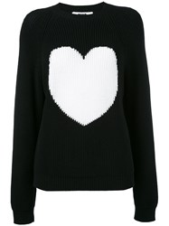 Msgm Heart Figure Jumper Women Polyamide S Black