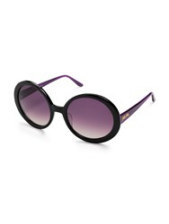 Folli Follie Black And Purple Round Sunglasses