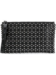 Red Valentino Studded Zipped Clutch Black