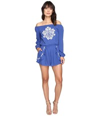 Lovers Friends Carmella Romper Periwinkle Women's Jumpsuit And Rompers One Piece Blue