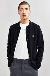 Fred Perry Tonal Tipped Cardigan Navy