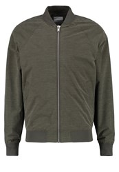 Minimum Starego Bomber Jacket Sea Turtle Oliv