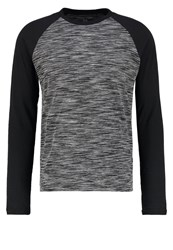 Your Turn Long Sleeved Top Mottled Grey Black