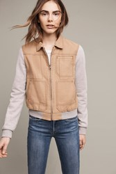 Anthropologie Excursion Collared Bomber Khaki
