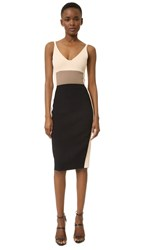 Narciso Rodriguez Blocked Knit Dress Black Multi