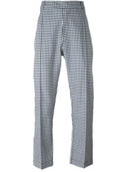 E. Tautz Checked Trousers Blue