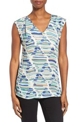 Nic Zoe Women's Diamond Streaks V Neck Top
