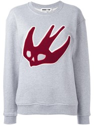 Mcq By Alexander Mcqueen Skull Swallow Sweatshirt Grey