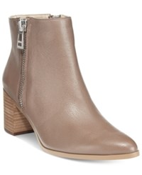 Charles By Charles David Uma Side Zip Booties Women's Shoes Taupe