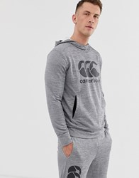Canterbury Of New Zealand Vapodri Training Hoodie In Grey Marl