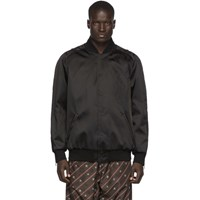 Fendi Black Nylon Forever Bomber Jacket