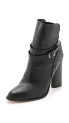 Cynthia Vincent Hue Booties Black Charcoal