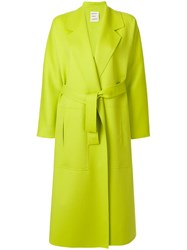 Maison Rabih Kayrouz Long Belted Tailored Coat Green