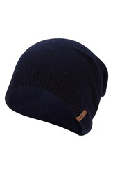 True Religion Men's Brand Jeans Slouch Beanie Blue Navy