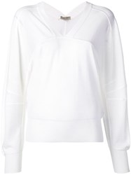 Bottega Veneta V Neck Sweater White