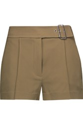 A.L.C. Del Belted Crepe Shorts Army Green