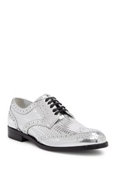 Dolce And Gabbana Mirrored Brogues Oxford Silver
