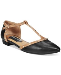 Rialto Alexia Studded T Strap Flats Women's Shoes