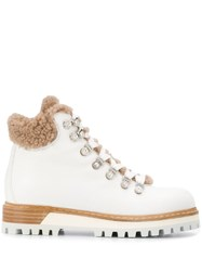 Le Silla Hiking Style Ankle Boots White