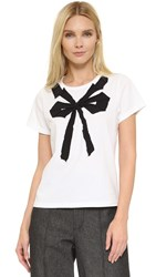 Marc Jacobs Small Folded Bow Tee White Multi