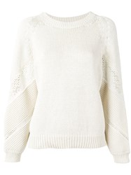 Vanessa Bruno Lace Insert Jumper White