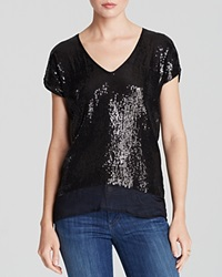 Velvet By Graham And Spencer Blouse Cai Sequin Chiffon