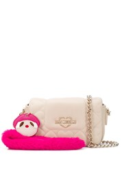 Love Moschino Quilted Heart Shoulder Bag Neutrals