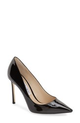 Women's Jimmy Choo 'Romy' Pointy Toe Pump Black Patent