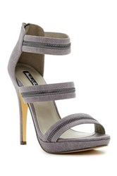 Michael Antonio Trials Zipper Detailed Platform Sandal Gray