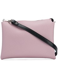 Gum Top Zip Shoulder Bag Pink And Purple