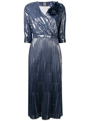 Lorena Antoniazzi Plisse Midi Dress Blue