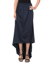 Jijil Skirts Long Skirts Women Dark Blue