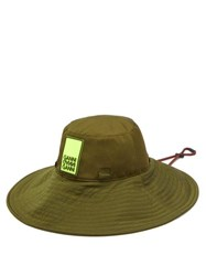 Ganni Azalea Logo Patch Bucket Hat Green