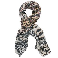 Chesca Aztec Printed Scarf Sand Multi