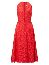 John Lewis Fit And Flare Lace Dress Coral