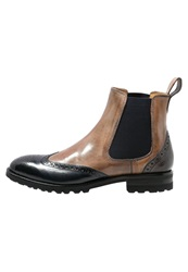 Melvin And Hamilton Tom Boots Navy Ash Camel Stone Brown