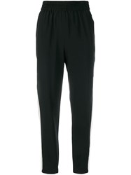 Red Valentino Cropped Side Stripe Track Trousers Black