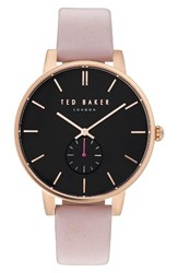 Ted Baker Women's London Olivia Round Leather Strap Watch 40Mm