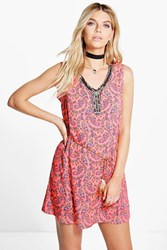 Boohoo Sleeveless Shift Dress Pink