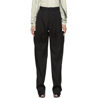 Y Project Black Double Leg Trousers