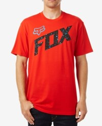 Fox Men's Graphic Print T Shirt Flaming Red