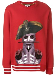 Les Benjamins Narrikup Sweatshirt Red