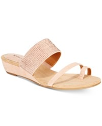 Styleandco. Style Co. Women's Heidee Embellished Wedge Sandals Only At Macy's Women's Shoes Pink