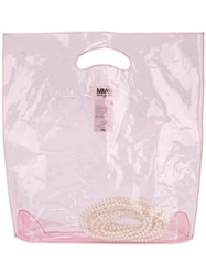 Maison Martin Margiela Mm6 See Through Tote Bag Women Pvc One Size Pink Purple