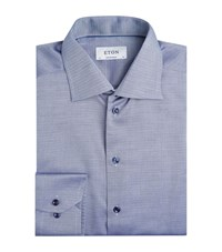 Eton Crosshatch Contemporary Fit Shirt Male Navy