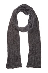 Rogue Cable Knit Scarf Gray