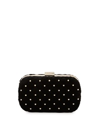 Class Roberto Cavalli Elisabeth Quilted Velvet Clutch Bag Black