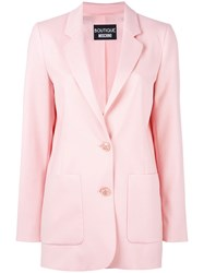 Boutique Moschino Two Button Blazer Pink Purple