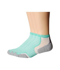 Thorlos Experia Micro Mini 3 Pair Pack Spearmint No Show Socks Shoes Green