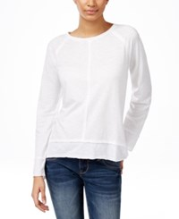 Styleandco. Style And Co. Long Sleeve T Shirt Only At Macy's Bright White